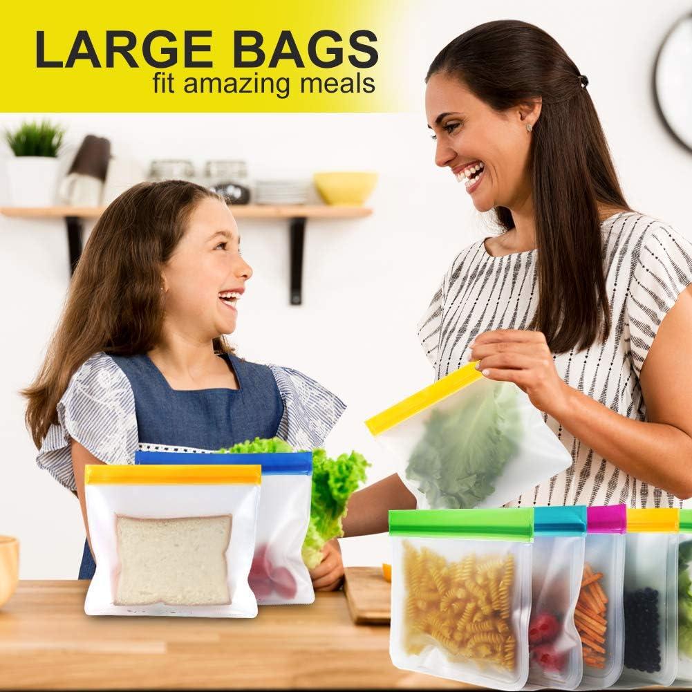 10 Pezzi Sacchi Portaoggetti Congelatori Borsa Sandwich Ecologico per Pane APERIL Sacchetti Riutilizzabili per Alimenti Tostapane