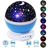 LED Night Lighting Lamp -Elecstars Light Up Your Bedroom With This Moon, Star,Sky Romantic - Best Gift for Men Women Teens Kids Children Sleeping Aid (Blue)