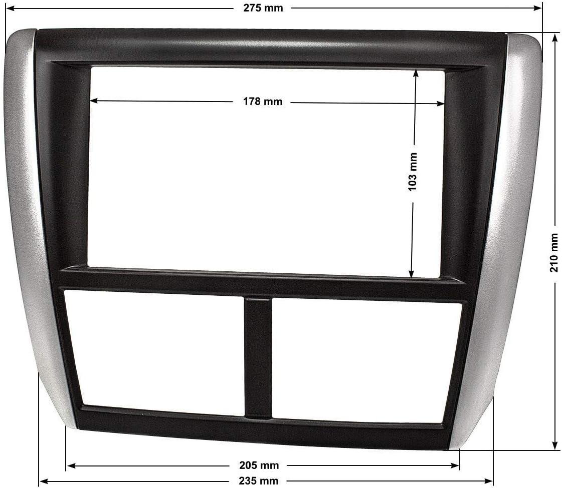 IMPREZA /002/doble DIN para radio de coche para Subaru Forester /2012 /2012 tipo gr 2008/ 2007/ tipo SH tomzz Audio 2453/