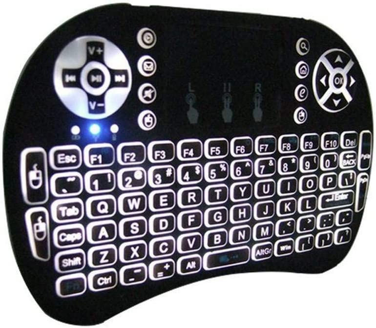 Black//Multi Device Available / 2.4GHz Warm White Backlit Wireless Keyboard with Touch Pad