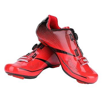 Tbest Zapatillas de Ciclismo de Carretera, 1 Par Calzado de Ciclismo Sistema de Bloqueo Antideslizante
