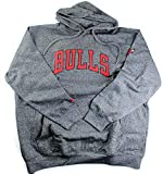 NBA Men's Big and Tall Marled Fleece Pullover Hoodie (MT, Chicago Bulls)