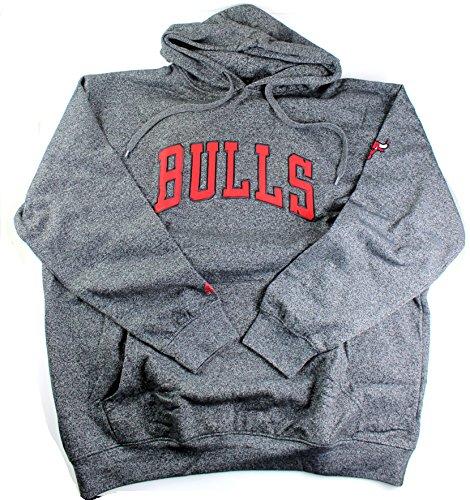 NBA Men's Big and Tall Marled Fleece Pullover Hoodie (3XL, Chicago Bulls)