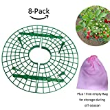 TheSunnyPiny 2018 Upgraded 8 Pack Easy to Use Strawberry Support, Plant Support with 4 Sturdy Legs,Durable, Reusable, Adjustable,plus 1 Bag for storage,gift packing purpose,