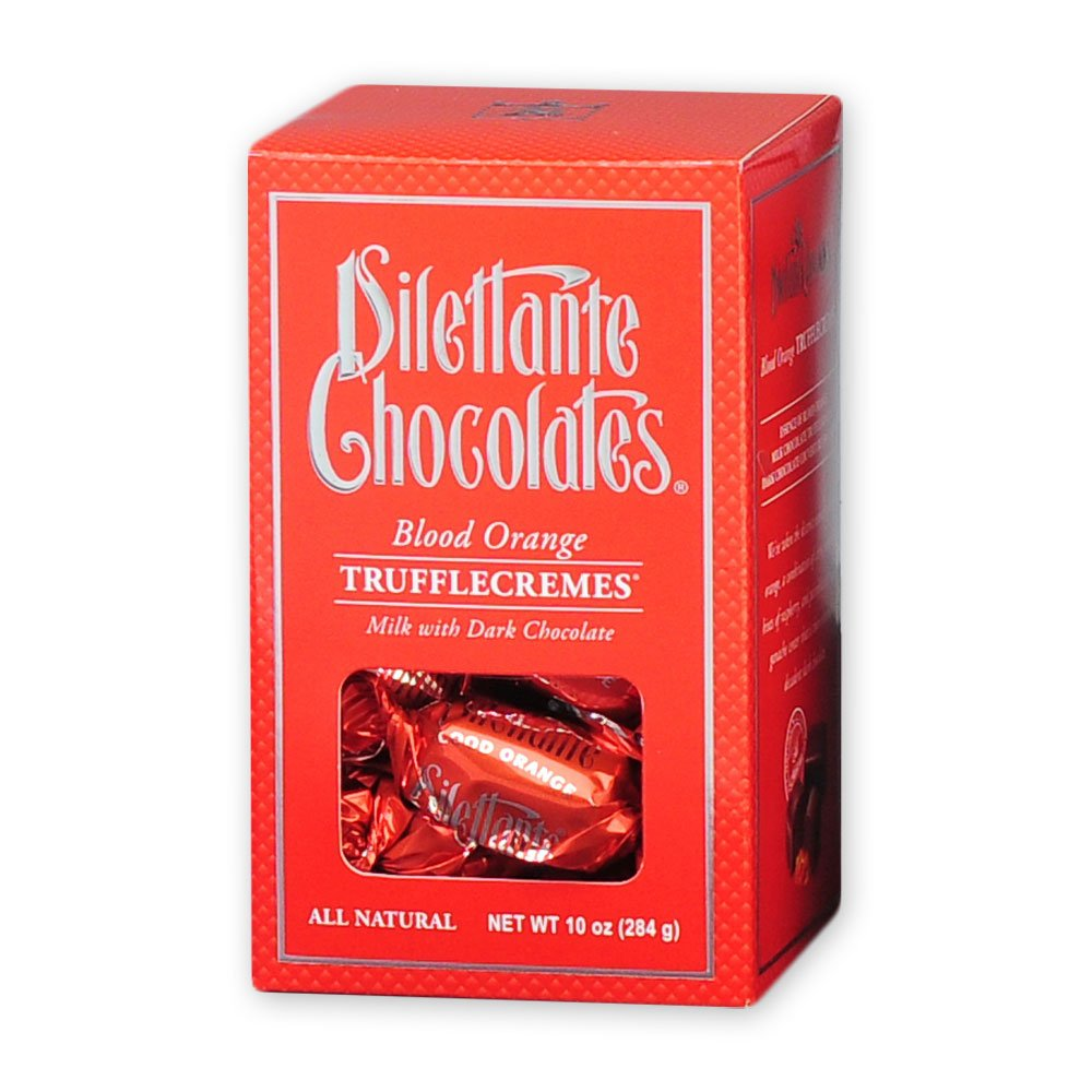 Blood Orange TruffleCremes in Milk & Dark Chocolate - 10 oz Gift Box - by Dilettante (3 Pack)