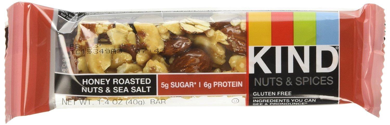 KIND Nuts & Spices qgroe Bars - Honey Roasted Nuts/Sea Salt - 48 Count by KIND