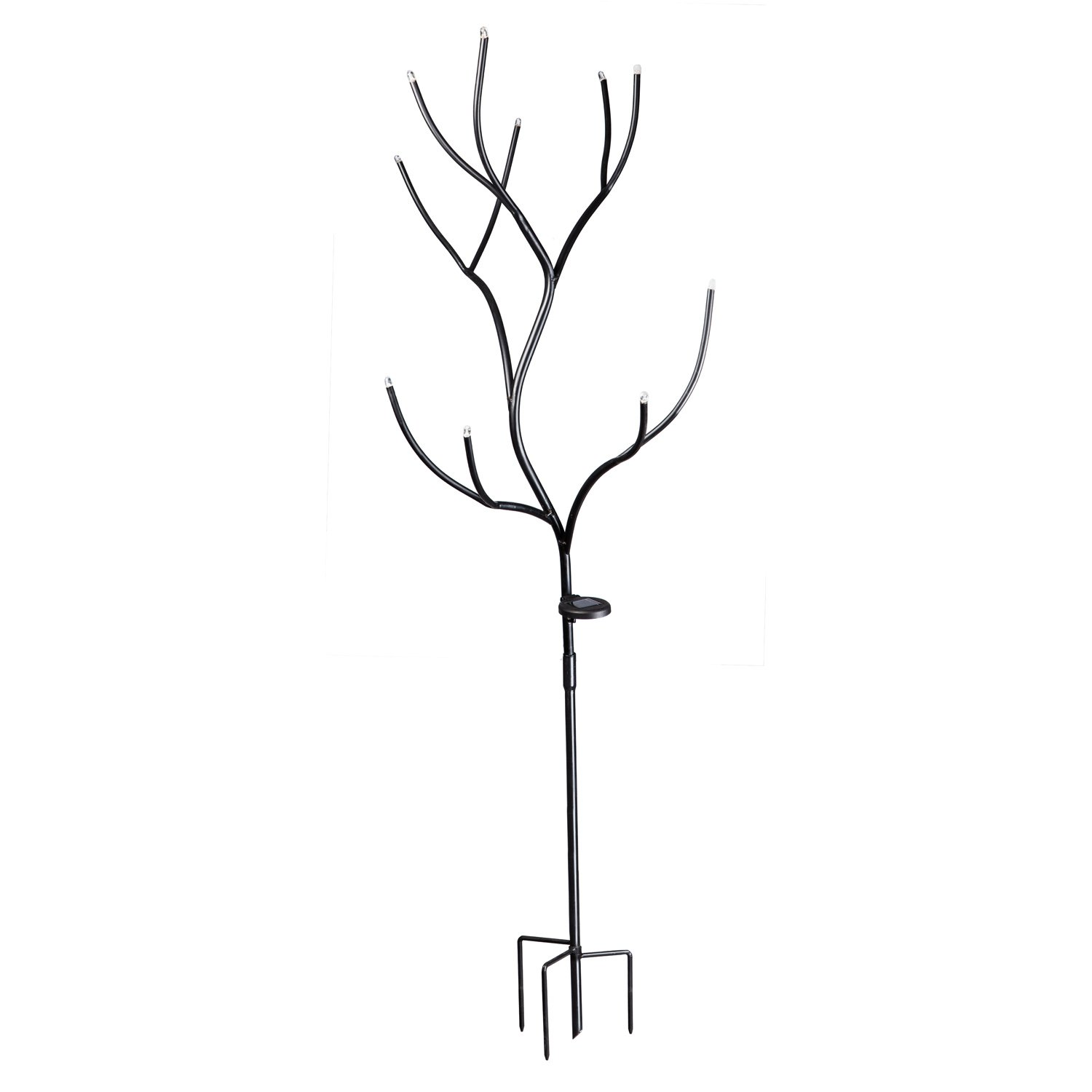 Evergreen Solar Metal Bottle Tree - Holds 10 Bottles (Sold Separately) - 30 x 28.25 x 61 inches