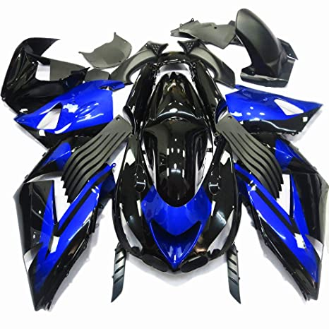 Amazon.com: ABS Injection Molding - Deep Blue Fairing Kit ...