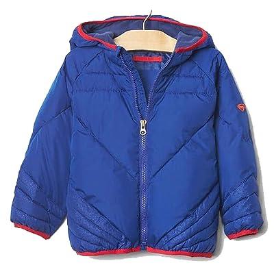 Baby Gap Toddler Boys Blue Superman Puffer Winter Coat 2 Years