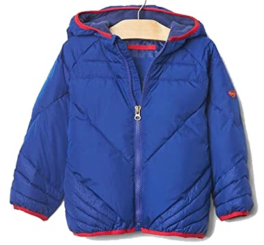 b07c53274 Amazon.com  BabyGap Toddler Boys Blue Superman Puffer Winter Coat 2 ...