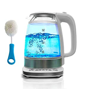 Double Wall Glass Electric Kettle – 1.7L Water Kettle Tea Kettle - Quick Auto Shut Off Boil Function (Large)