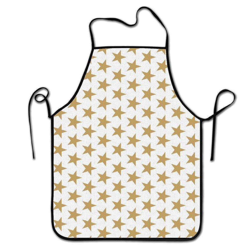Jhonangel Delantal de Chef de Cocina, Borde Negro, Cintura ...
