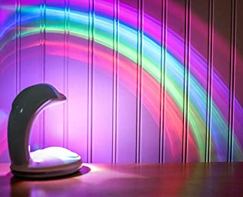 ZUEN Proyector Recargable del Arco Iris, luz de la Noche del LED ...