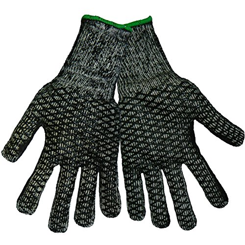 Global Glove T800HC Honeycomb Terrycloth PVC Glove, Work, Medium (Case of 144) (Cloth Honeycomb)
