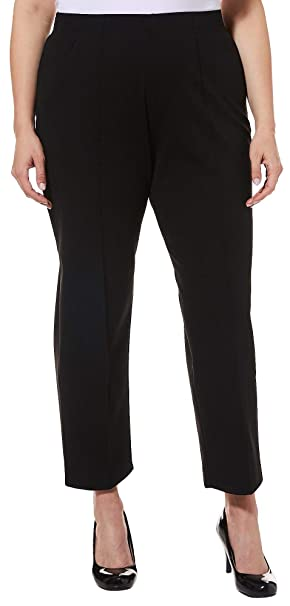 7f8f28d0cc2 Cathy Daniels Plus Pull-On Stitched Crease Stretch Pants at Amazon Women s  Clothing store