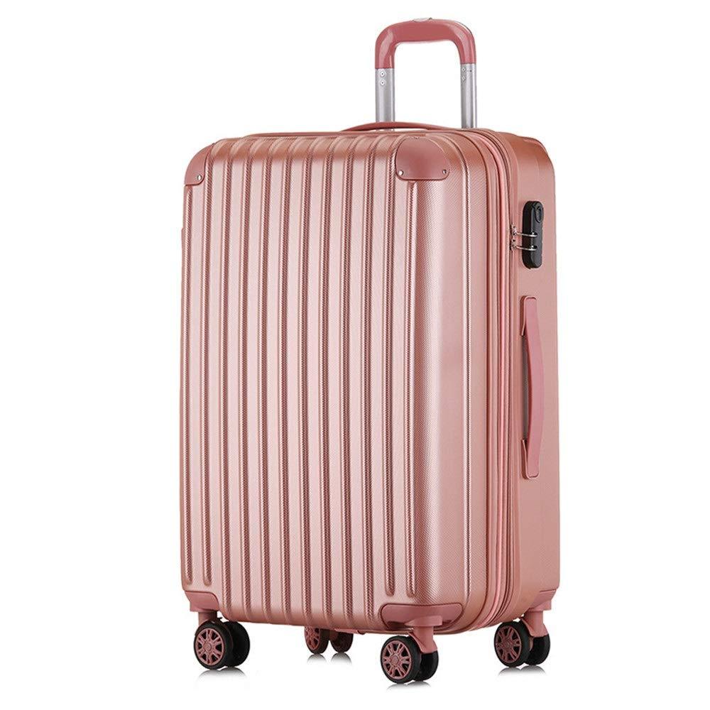 スーツケース 荷物出張旅行用パスワード荷物プラス高層ジッパー20インチユニバーサルホイール搭乗女性24インチスーツケースメンズトラベルギア(7色オプション) (色 : Rose gold, サイズ : 24Inch) B07VGVTY5P Rose gold 24Inch