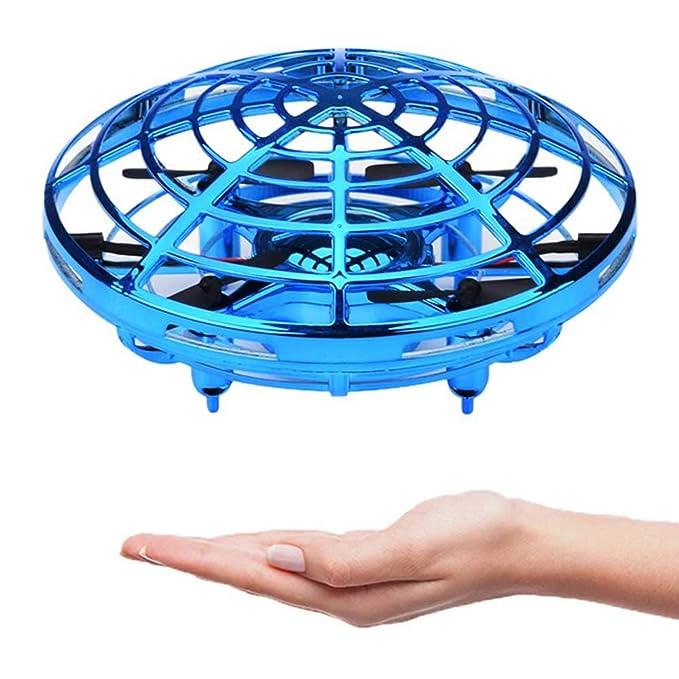 Mini Drohne für Kinder und Anfänger UFO RC Drone Quadrocopter Spielzeug Geschenk Gift wiederaufladbar Pocket Drohne mit LED-L