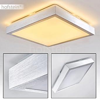 Deckenlampe LED Wutach – quadratische LED Deckenleuchte aus Metall ...