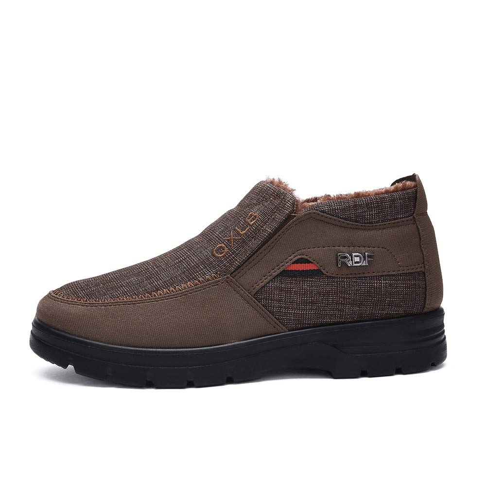 Clearance for Shoes,AIMTOPPY Winter Men's Cotton Shoes Thickening Plus Velvet Warm Casual Shoes