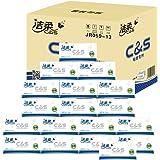 洁柔 布艺(圆点)180抽抽取式纸面巾(18包装)(亚马逊自营商品, 由供应商配送)