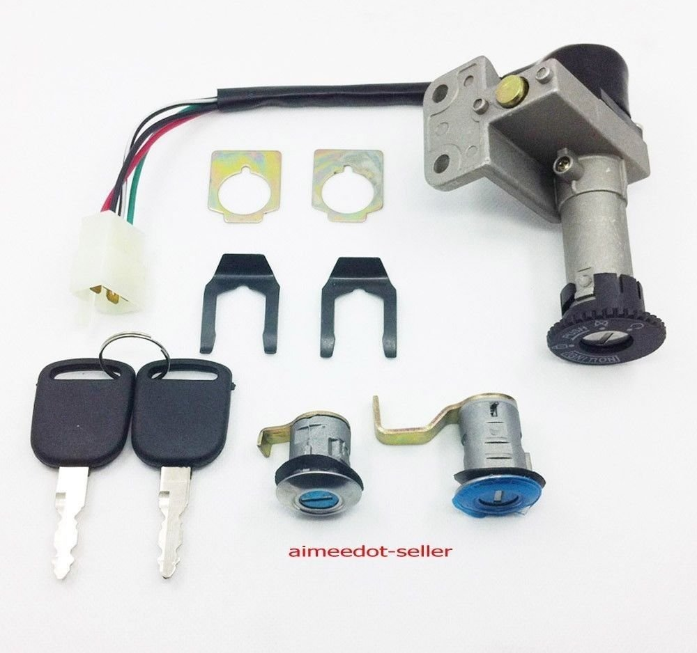 4 Wire Ignition Switch Key Set 50 125 150 250cc Moped 1982 Jeep Wiring Scooter Taotao Peace Jcl Automotive