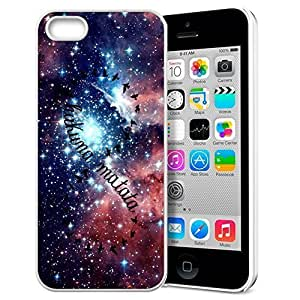 Africa Ancient Proverb HAKUNA MATATA Color Accelerating Universe Star Design Pattern HD Durable Hard Plastic Case Cover for iphone 5/5s