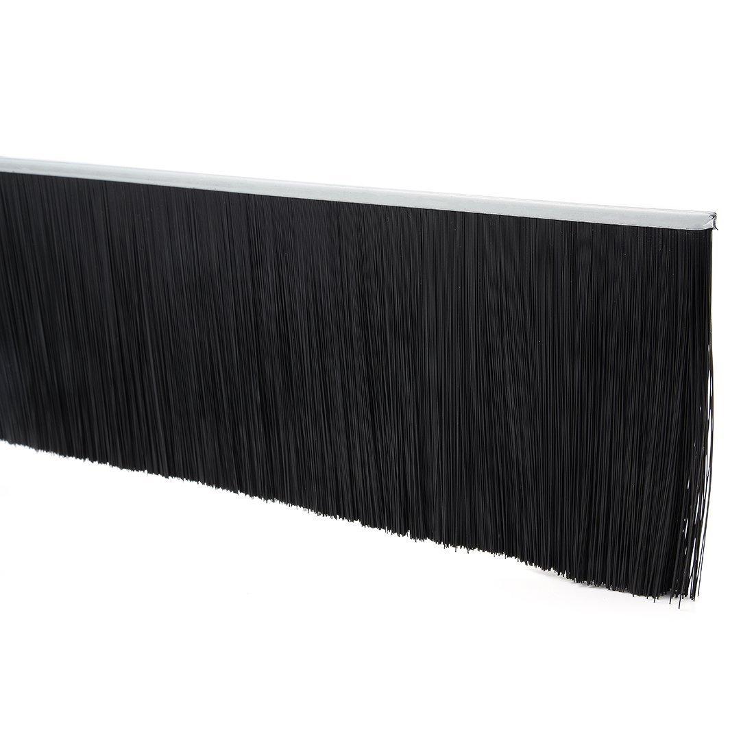Sourcingmap 39-inch x 4.4-inch Door Bottom Sweep Nylon Brush Insert Seal Black US-SA-AJD-334820