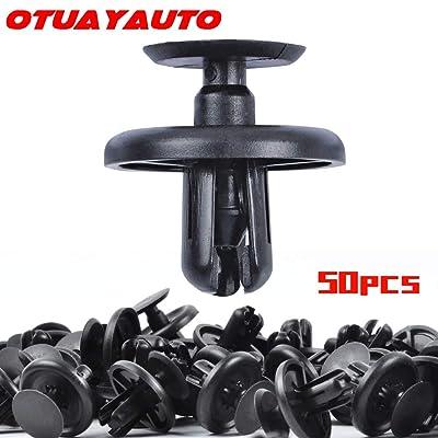 OTUAYAUTO 50PCS Plastic Retainer Clips, Engine Cover Fasteners Clips for Lexus & Toyota 2002-2020, Splash Shield Clips Replace OEM: 90467-07201: Automotive