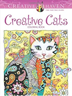 Creative Haven Cats Coloring Book Adult