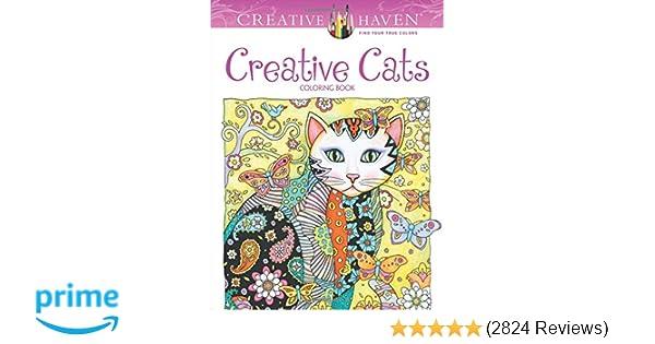Amazon Creative Haven Cats Coloring Book Adult 9780486789644 Marjorie Sarnat Books