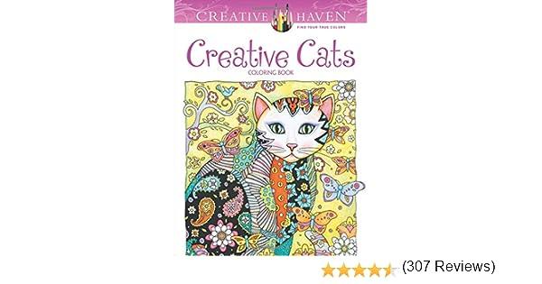 Creative Haven Cats Coloring Book Marjorie Sarnat Amazonca Home Kitchen