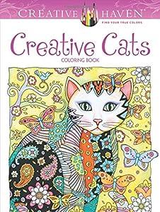 creative haven creative cats coloring book adult coloring - Cat Coloring Books