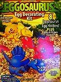 Dinosaur Easter Egg Decorating Kit 8 Eggosaurus Holders, 5 Coloring Tabs, 1 Sticker Sheet, 1 Egg Dipper
