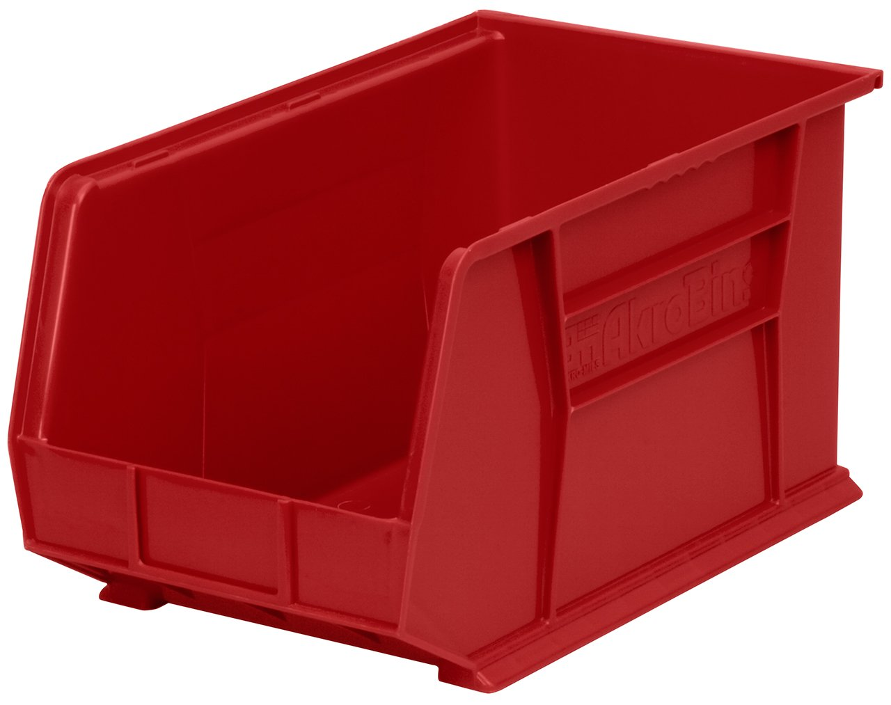 Akro-Mils 30260 Plastic Storage Stacking Hanging Akro Bin, 18-Inch by 11-Inch by 10-Inch, Red, Case of 6