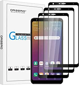 (3 Pack) Orzero Tempered Glass Screen Protector Compatible For LG Stylo 5, Stylo 5v 9 Hardness HD Anti-Scratch Anti-Fingerprint Bubble-Free (Lifetime Replacement)