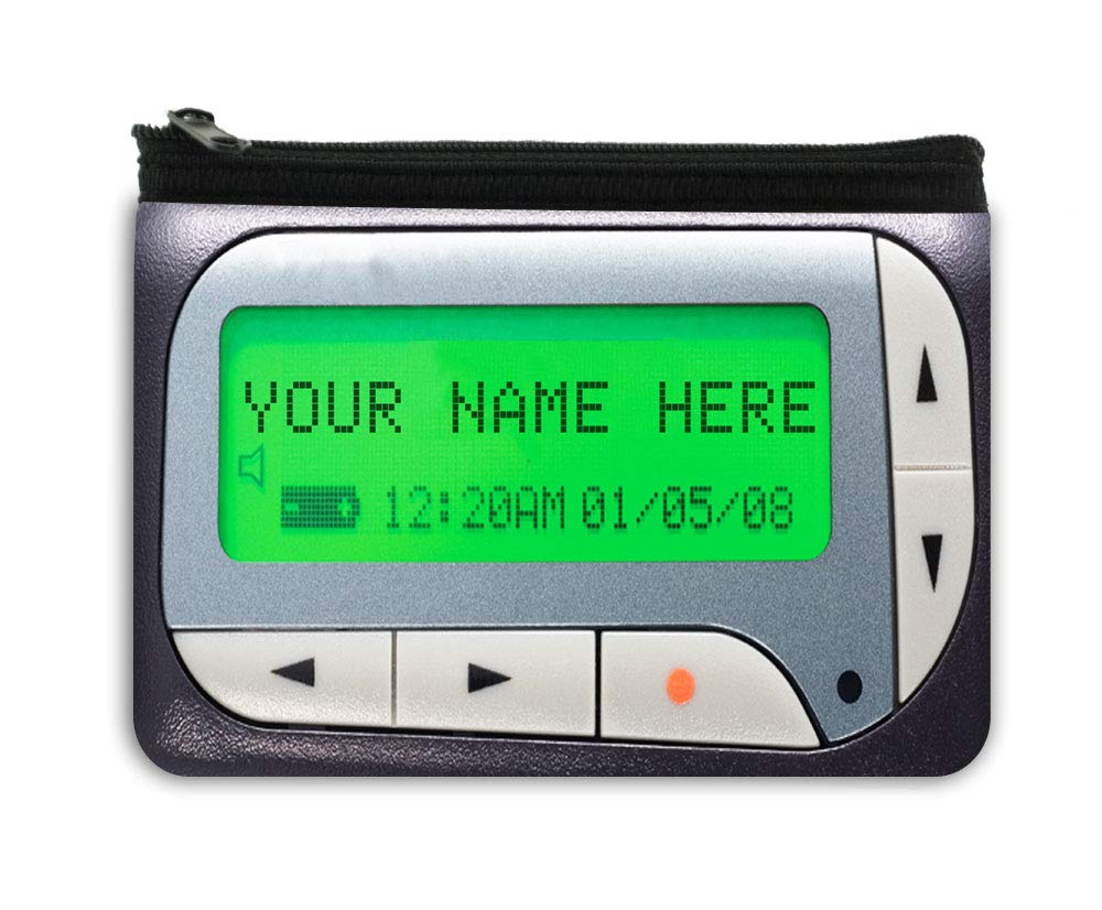 BRGiftshop Personalized Custom Name Funny Retro Beeper Neoprene Coin Purse