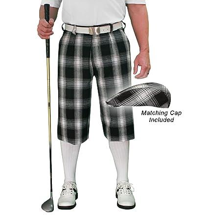 35084ecee67 Amazon.com   Golf Knickers Plaid and Cap  Mens  Par 5  - Yorkshire ...