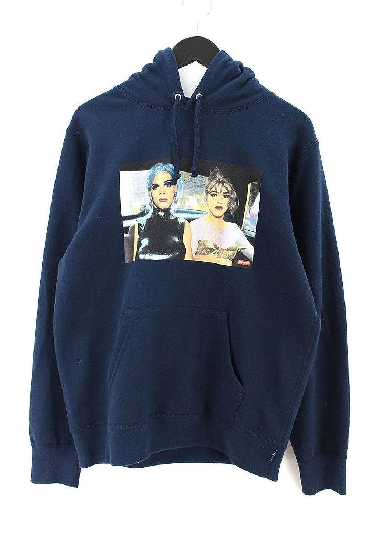 (シュプリーム) SUPREME 【18SS】【Nan Goldin Misty and Jimmy Paulette Hooded Sweatshirt】フロントプリントプルオーバーパーカー(S/ネイビー) 中古 B07FVJF5NF  -