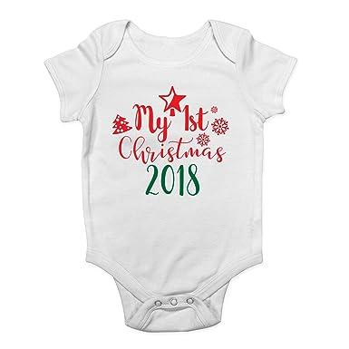 7195ea64d Shopagift My First Christmas 2018 Xmas Boys Girls Baby Grow Vest ...
