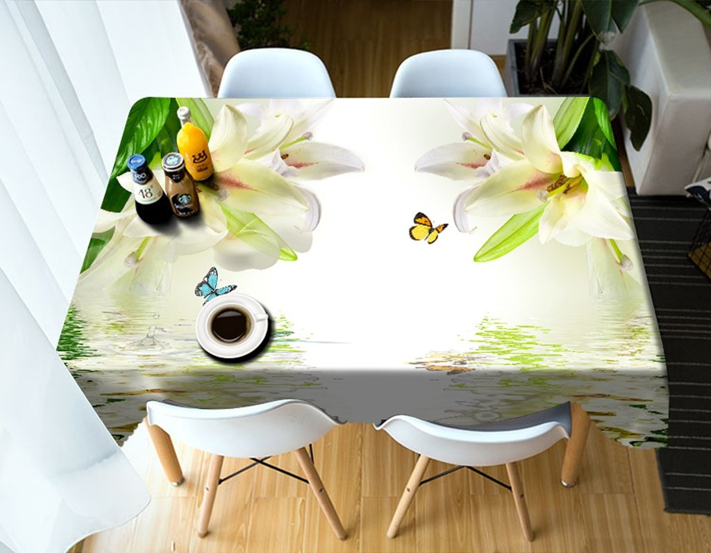 LWF Europäische Tischdecke Rechteckige Tischdecke - 3D personalisierte Tischdecke PG01069 - umweltfreundlich und geschmacklos - Digitaldruck wasserdicht (größe   Rectangular -152cm228cm) B07D5Z9SL3 Tischdecken Neuer Stil  | Glücklicher Sta