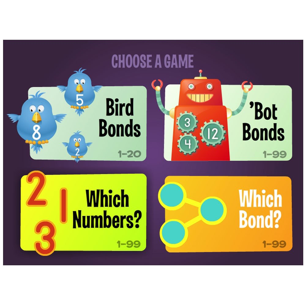 Education Number Bonds Multiplication /& Division to 99 Crystal Springs Books ELP550245 Nonfiction
