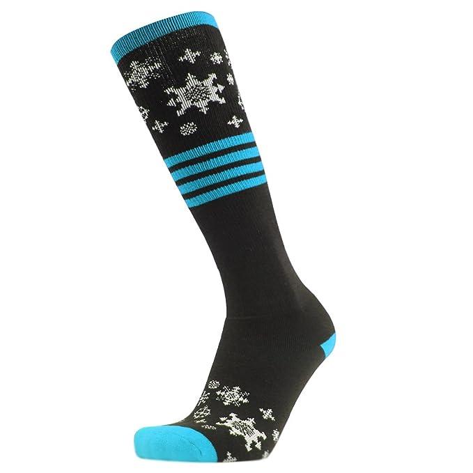 Gmark Calcetines de esquí, grosor de la mujer calcetines de algodón Deportes Snowboard calcetines de