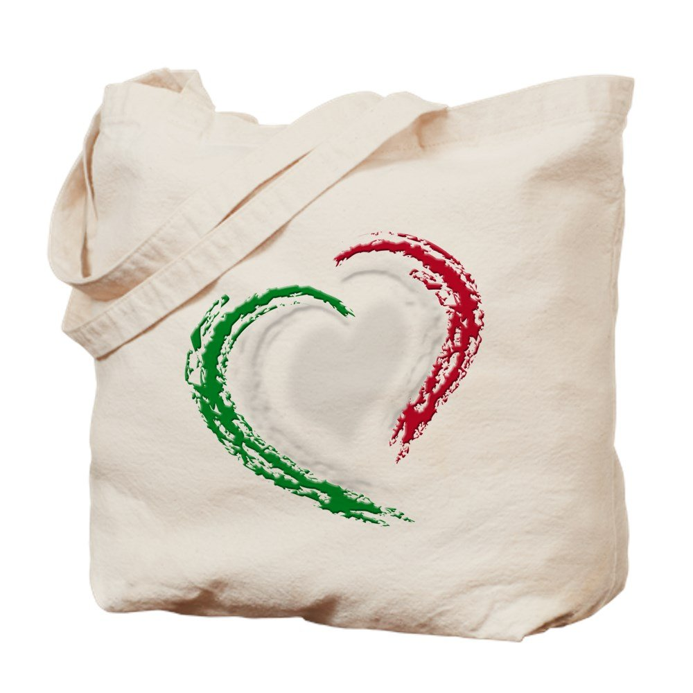 CafePress – イタリアハート – ナチュラルキャンバストートバッグ、布ショッピングバッグ B01JOPI2Z6