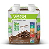 Vega Protein+ Ready to Drink Shake, Chocolate, 11 Fl Oz, 4 Count
