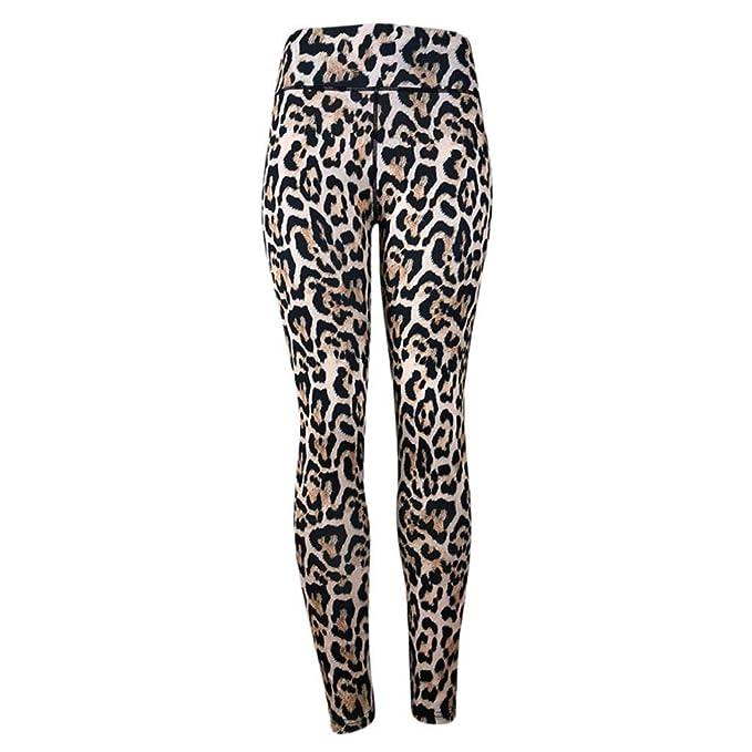 QUICKLYLY Yoga Mallas Leggins Pantalones Mujer,Leopardo Estampado De Leopardo De Las Mujeres Fitness Deportes Gimnasio Correr Yoga Athletic Pants