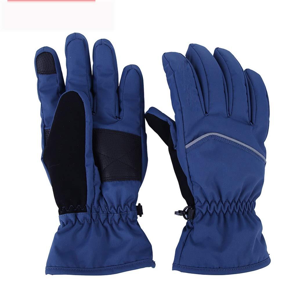 HZPXSB Ski-Fäustlinge, Touchscreen-Handschuhe, Atmungsaktive, rutschfeste Fäustlinge , für Camping Wandern Radfahren Reiten Motorrad Radfahren Jagd (Color : Blue, Size : M)