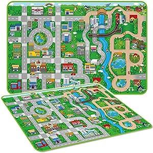 Marko Giant Kids City Playmat Fun Town Cars Play Road
