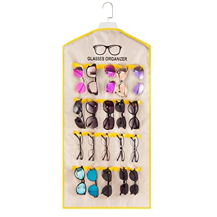 8e32dd1b9f Amazon.com  TRIUMPH VISION Hanging Sunglasses Organizer Wall Mounted ...