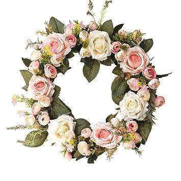 Amazon.com: zzJiaCzs - Guirnalda de rosas artificiales para ...