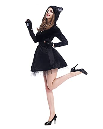cat halloween costumes for womencute animal cosplay clothing for teen girl